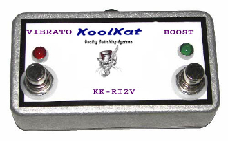 KoolKat's 2 button footswitch Fender Vibro King Re-Issue (Vibrato/Boost)