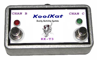 KoolKat's 2 button footswitch for the Hafler T3 3 channel amp