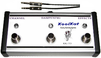KoolKat Switches 3 button Footswitch for Ibanez Thermion TN120